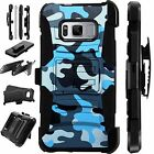 For Samsung Rugged Cover Holster Hybrid Armor  BLUE CAMO LuxGuard