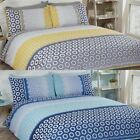 BARBICAN GEOMETRIC DUVET COVER EASY CARE MODERN QUILT SETS ALL SIZES