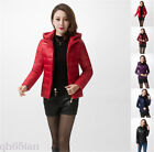 Fashion Winter Women Down cotton short Coat Hooded Down Jacket Ladies Parka S-XL