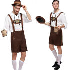 Lederhosen Mens Bavarian Beer Guy Oktoberfest Outfit Fancy Dress Costume German