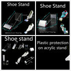 18 or 24 cm Children Audlt Clear Acrylic Shoes Retail Display Stand Rack Holder