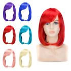 Women Lady Halloween Beauty Hair Synthetic Wig Short BOB Cosplay Full Wig 6Color