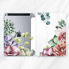 Bright Succulents Floral Design Case Smart Cover Apple iPad Pro Air Mini 2 3 4