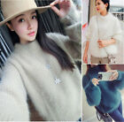 Women Girls Jumpers Sweater Loose Pullover lantern sleeve warm thicker Cardigans