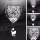 LION engraved, etched set 4 glasses, gift, wedding, personalised free