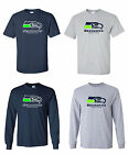 Seattle Seahawks Logo Men's Short Sleeve / Long Sleeve T-Shirt Sizes S - 5XL