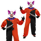 Smiffys Mens Bo Bo The Evil Circus Clown Halloween Fancy Dress Costume Outfit