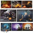 LED Light Up Canvas Halloween Spooky Scene Picture Wall Home Hanging Decoration
