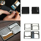 USB Leather Electric Lighter Metal Cigarette Tobacco Holder Case Rechargeable