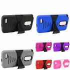 For LG Stylo 3 Plus Wave Symbiosis Hybrid Stand Hard Silicone Shockproof Case