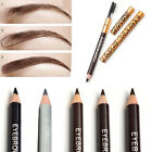 2 in1 Eyebrow Pen Pencil + Brush Makeup Cosmetic Waterproof Beauty Kit Tool