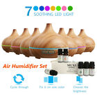 Air Humidifier Essential Oil LED Ultrasonic Aroma Aromatherapy Diffuser Purifier