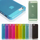 For iPhone 5 5S Clear Transparent 0.3mm Ultra Thin Back Plastic Case Cover Skin
