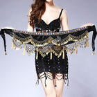 Bellydance Belly Dance Costume Hip Scarf Coins Fringe Waist Chain Velvet Outfit