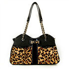 Petote Leopard Metro Couture Dog Bag Pet Carrier Made in USA Purse Tote 3 SIZES