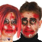 Adults Transparent Blood Drip Horror Zombie Halloween Fancy Dress Full Face Mask