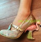 Women Lace Pointed Toe Strange Heel High T-strap Bowknot Sweet Formal Shoes