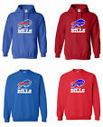 Buffalo Bills Logo Mens Pullover Hooded / Crewneck Sweatshirt Sizes S - 5XL