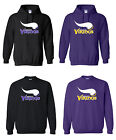 Minnesota Vikings Logo Mens Pullover Hooded / Crewneck Sweatshirt Sizes S - 5XL