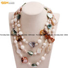 Womens Cultured Pearl Beads Jewelry Beaded Healing Princess Necklaces Gift Box