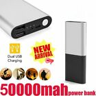 US Portable 100000mAh Power Bank 2 USB LCD Backup Battery Charger For Cell Phone
