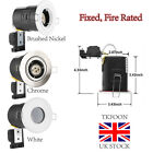 Pack of 4/10 Recessed Fixed Fire Rated LED GU10 Downlights Ceiling Spotlight UK