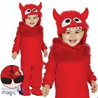 Baby Toddlers Cute Red Monster Devil Demon Halloween Fancy Dress Costume Outfit