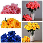 12 Silk Peony BUSHES Wedding Party Artificial FLOWERS Centerpieces WHOLESALE