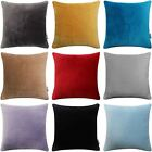 "Luxury Soft 100% Cotton Velvet Cushion Covers Luxuriously Plush 18"" x 18"""