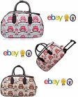 New Water Proof Owl Vintage Holdall Trolley Bag Travel Case Hand Luggage Holiday