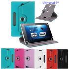 Stylish Lightweight Universal Leather Flip Case Cover For 9'' Android Tablet PC