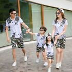 New camouflage Summer Family Outfits girl boy short sleeve T shirt & Shorts Sets