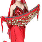 Belly Dance Costume Hip Scarf Hipscarf Velvet Coins Halloween Bollywood Outfits