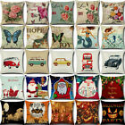 Vintage Retro Cotton Linen Waist Throw Pillow Case Cushion Cover Sofa Home Decor image