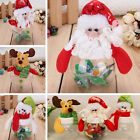 Christmas Clear Plastic Santa Cookie Candy Storage Bottle Bags Sweet PartyGiftBL