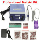 Professional Electric Acrylic Nail Drill File Machine Sand Bits Manicure Kit Set