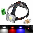 Rechargeable 3000lm 30W COB RGB LED 18650 Outdoor Headlamp Headlight Head Torch