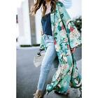Women's Long Maxi Cardigan Kimono Oversized Shawl Open Front Trench Coat Jacket