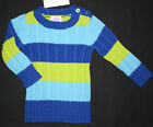 NWT: New Children's Place 6-9 or 12 Month Blue & Green Ribbed Sweater Rtl $14.50