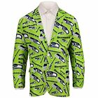 Forever Collectables NFL Men's Seattle Seahawks Ugly Business Jacket, Green