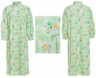 Ladies Traditional Quilted Dressing Gown Padded Robe Floral Oriental Housecoat