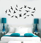 Vinyl Wall Decal Flock of Birds Animals Gothic Style Sticker