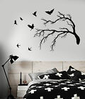 Vinyl Wall Decal Flock Of Birds Gothic Tree Branch Style Sti