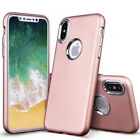 For Apple iPhone X 10 Hybrid SHOCKPROOF Metal Aluminum Silicone Armor Case Cover