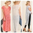 Umgee USA Ladies Short Sleeve Tunic Top with Side Slit 3 Colors Sizes S M L NWT