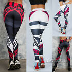 Damen Sporthose Leggings Tights Laufhose Fitnesshose Stretch Gym Jogging Hose