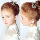 Mini Crown Tiara Hair Combs Clear Rhinestones Crystal Bridal Pageant Party Prom
