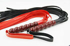 Fashion Wood Handle Scattered Whip Party Fetish Play Kit Faux Leather New