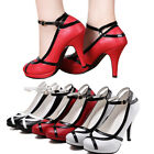 White And Black Red Women Shoes Straps Dress Prom Wedding Bridal High Heel Pumps