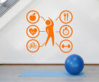 Vinyl Wall Decal Sport Beauty Health Lifestyle Gym Fitness Stickers (1648ig)